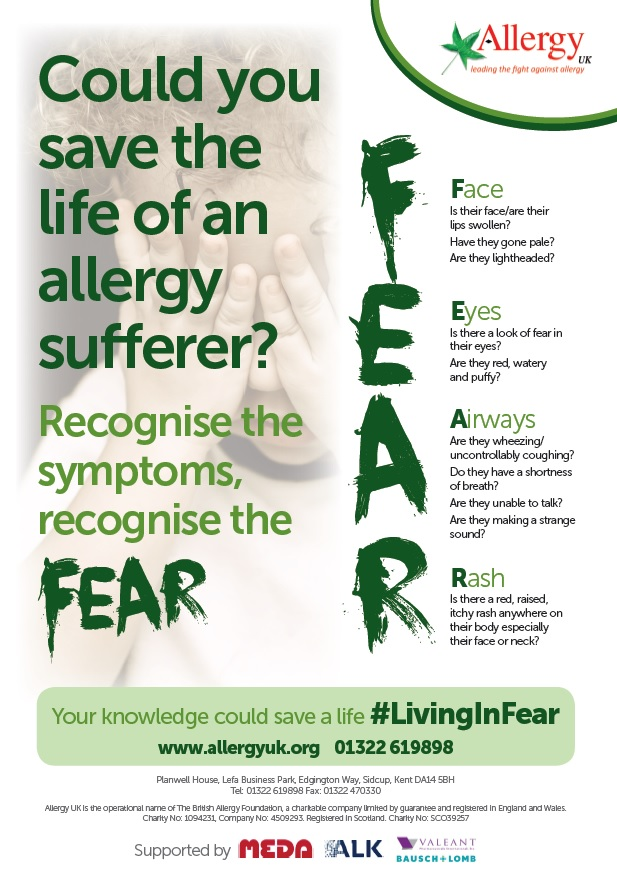 Allergy Awareness Week 2016 Poster [10866]